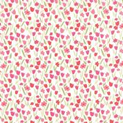 Moda Aria by Kate Spain - 4559 - Red & Pink Tulips on White - 27236 11 - Cotton Fabric